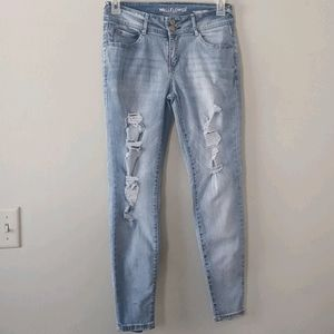 WALLFLOWER Lucious Curvy Distressed Jeans 9